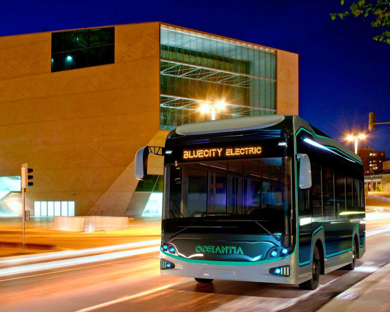 Novo Design Moderno 100% Autocarro Elétrico - BlueCity Electric